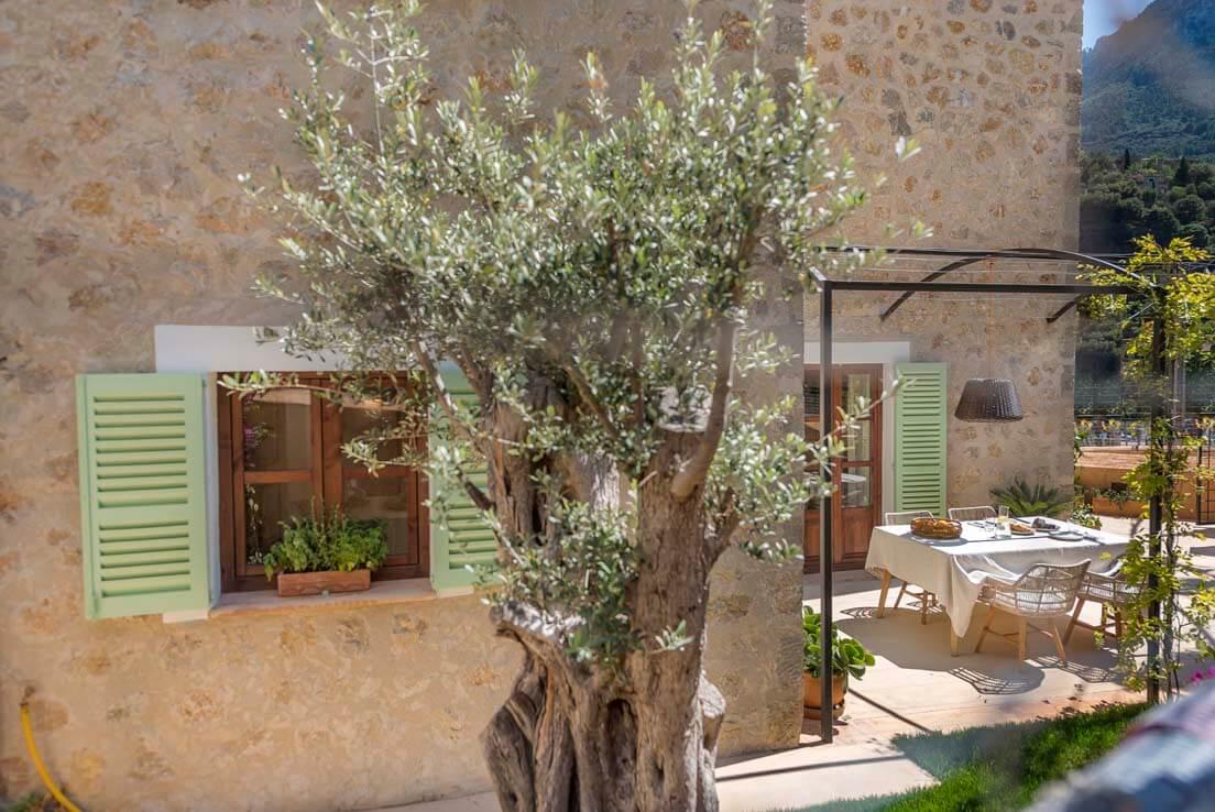 Beautiful stone houses in Deià