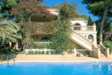 villa with sea views in portals nous